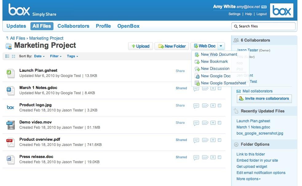 Box.net porta il Cloud Content Management all'interno di Google Apps