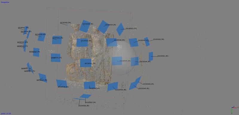 fotomodellazione ricostruzione 3d - punti tridimensionali