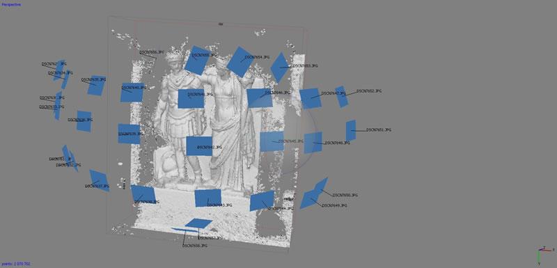 fotogrammetria ricostruzione 3d