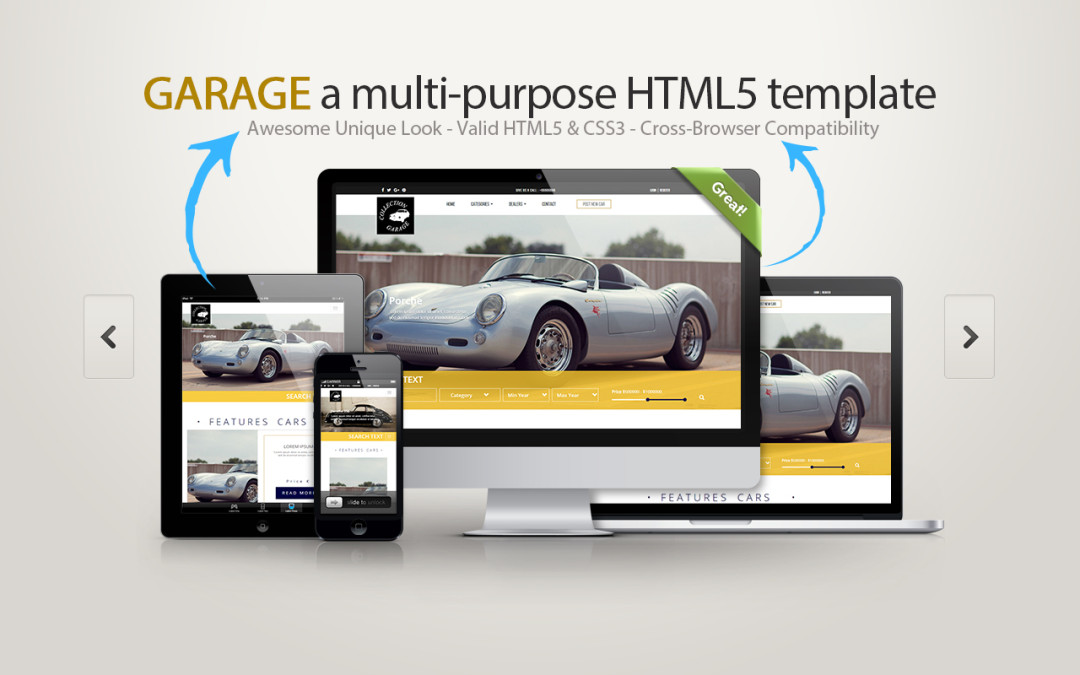 Garage html5 css3 template scarica gratis for Software gratuito per il layout del garage