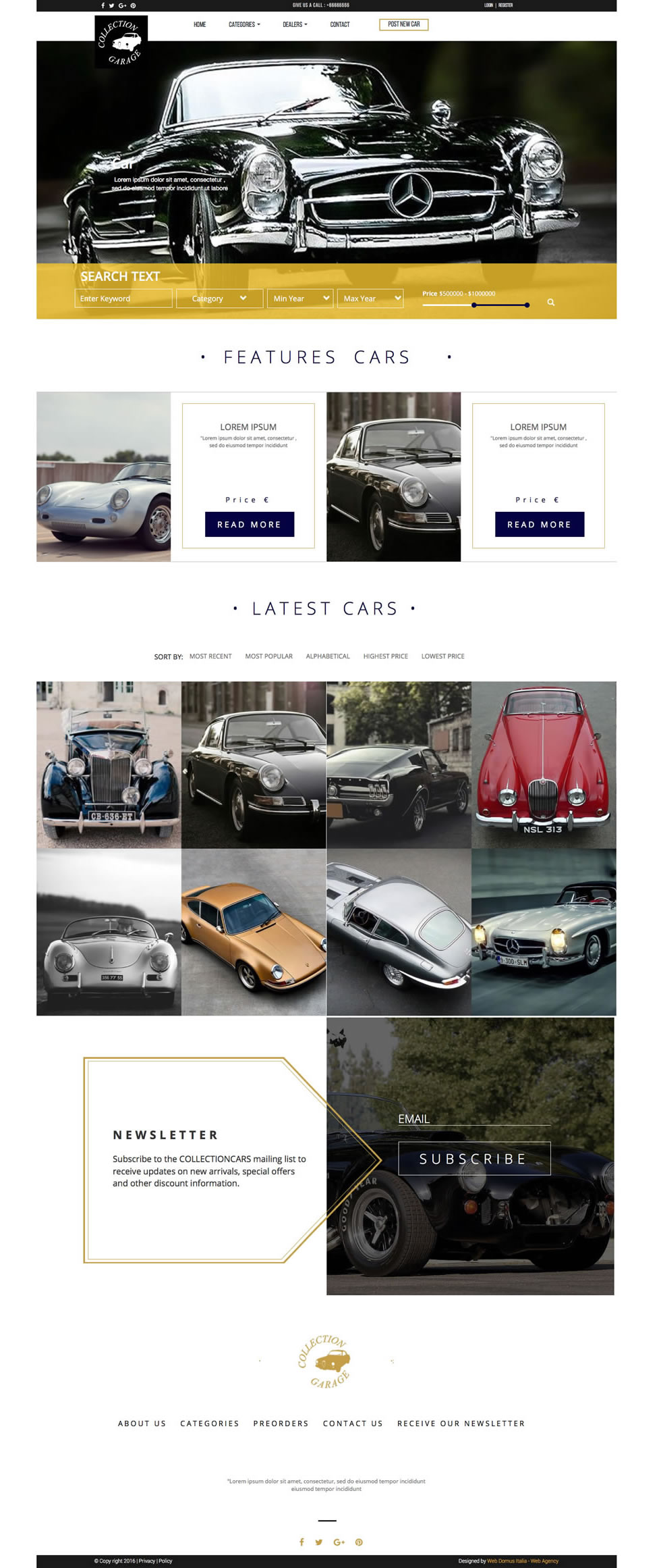 garage html5 css3 template free website templates