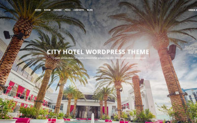 City-Hotel Template WordPress per Hotel Gratis