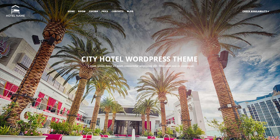 City-Hotel Template WordPress per Hotel Gratis