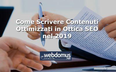 Come Scrivere Contenuti Ottimizzati in Ottica SEO nel 2019