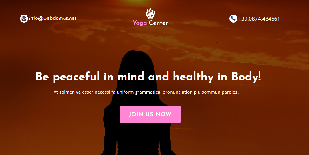 Yoga Center – Template per Centro Yoga Gratis!